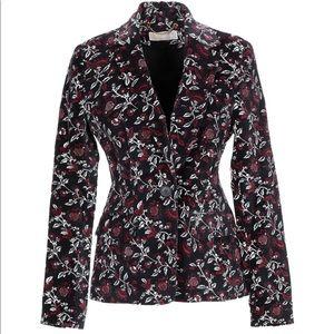 MICHAEL MICHAEL KORS ~ velvet blazer floral print